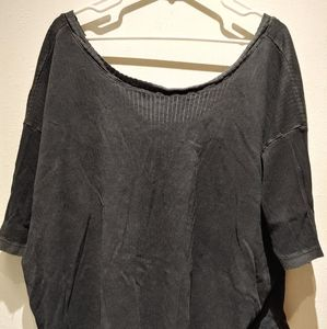 Distressed/faded free people oversized top